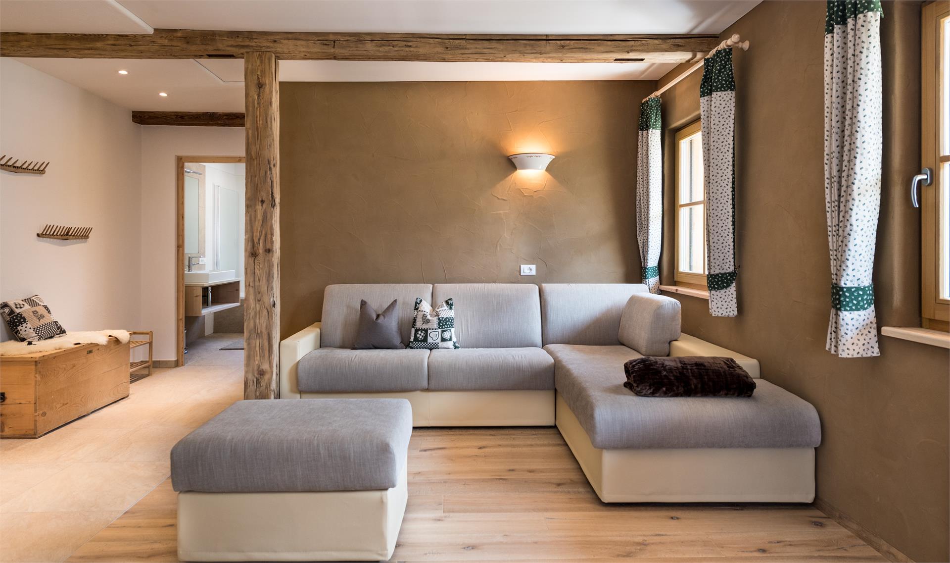 Große Couchlandschaft in Ferienwohnung