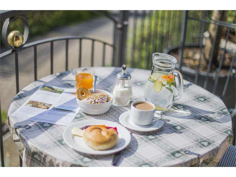 Frühstück auf der Sonnenterasse