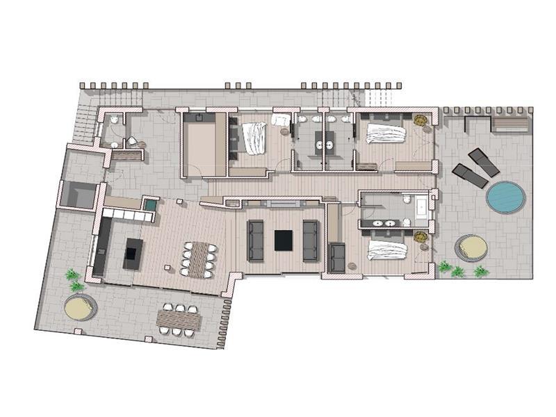 Grundriss Chalet Penthouse