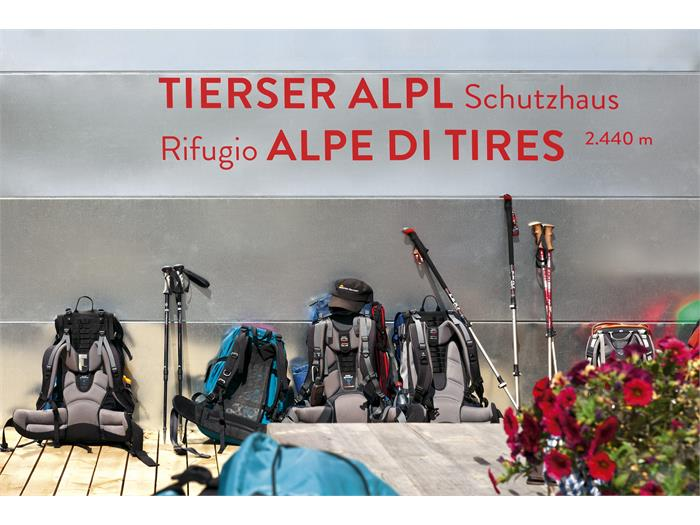 Mountain hut Alpe di Tires