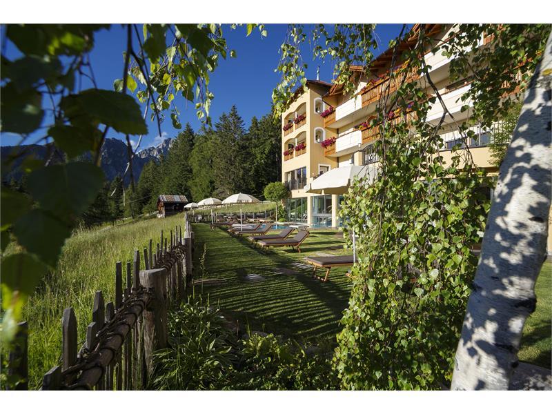 Garten im Hotel Falzeben