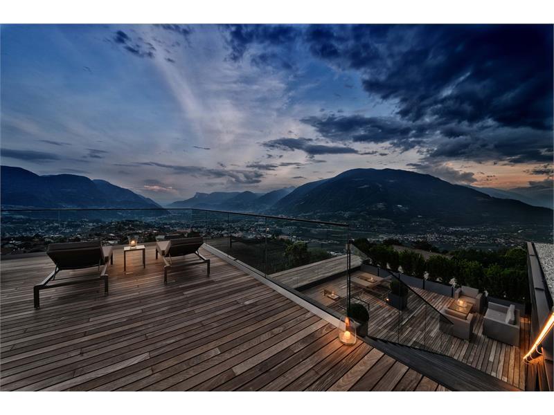 Terrazza sul tetto con una vista fantastica