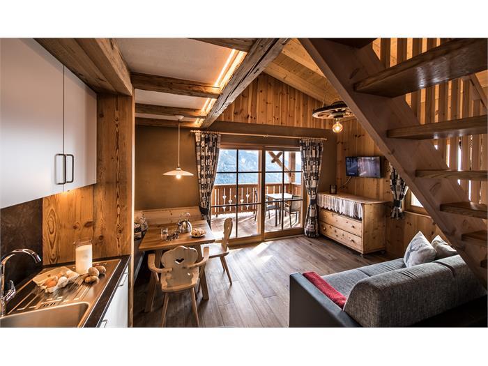 Appartment mit viel Holz