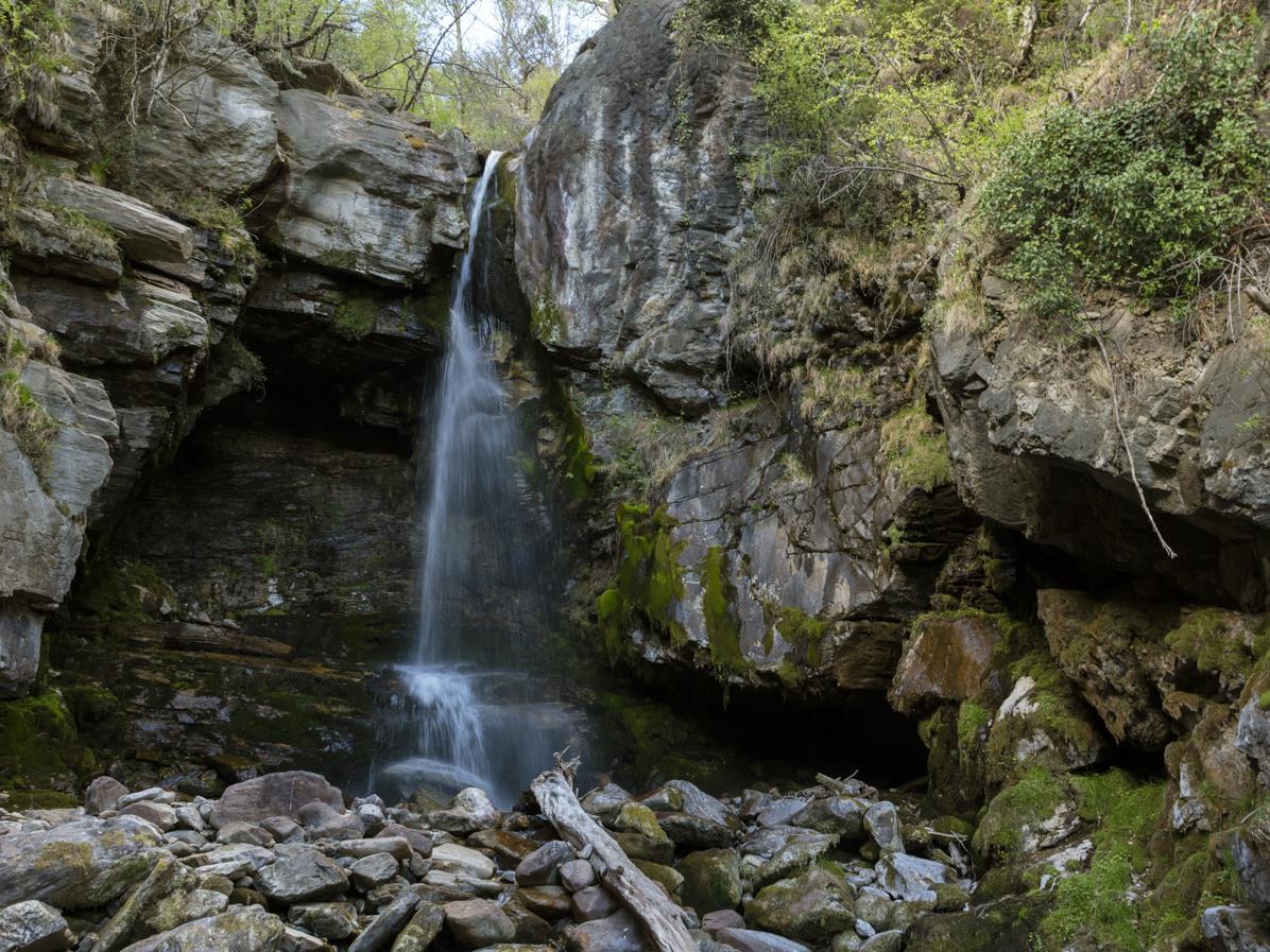 Frühlingserwachen am Wasserfall: Die Adern des Sonnenbergs