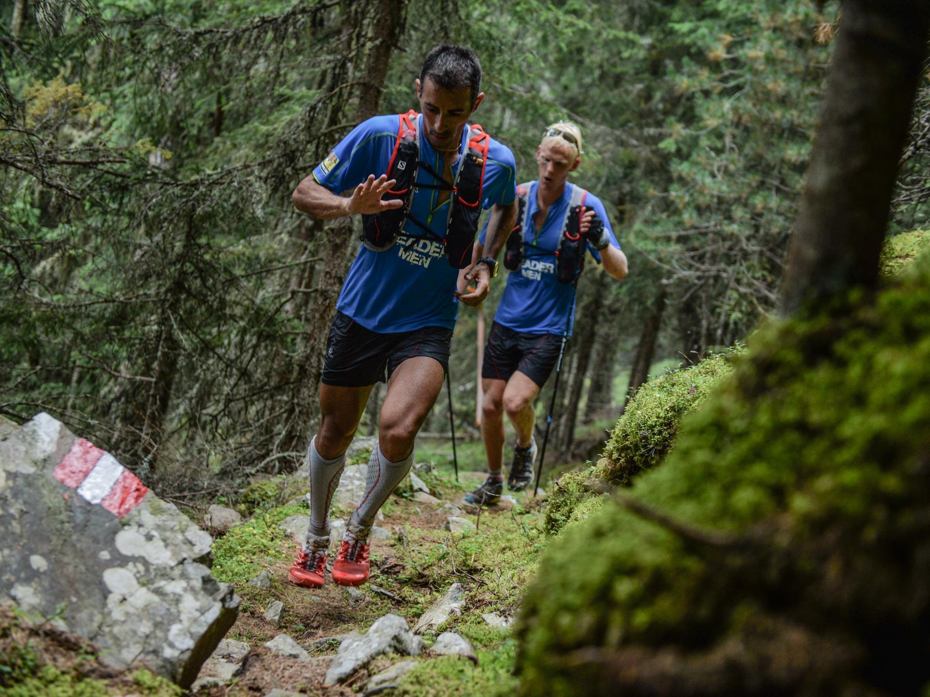 Trail running training at Solda