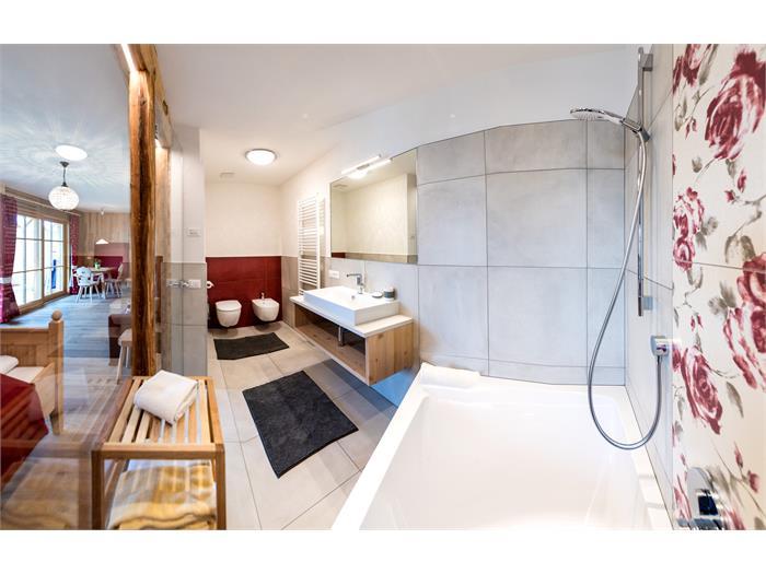 Ferienwohnung mit großer Badewanne