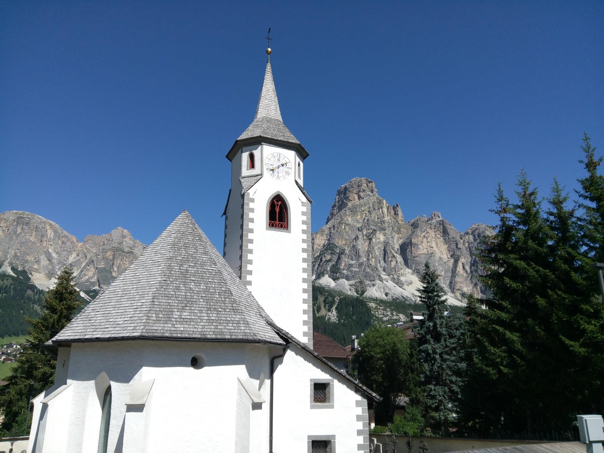 Die Kirche der Hl. Katharina in Corvara