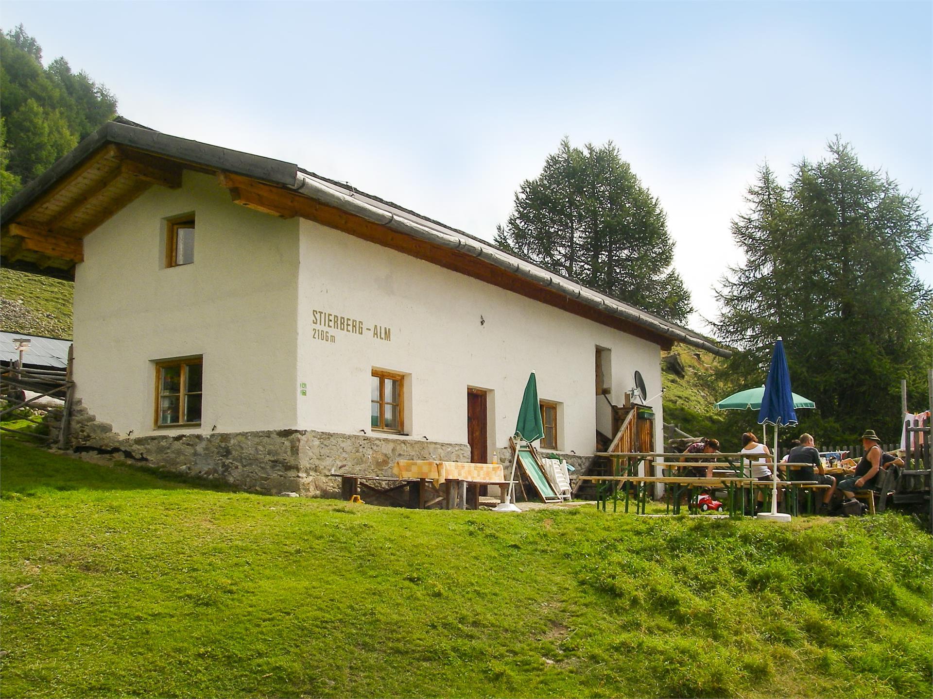Mountain hiking tour at Malga Stierberg