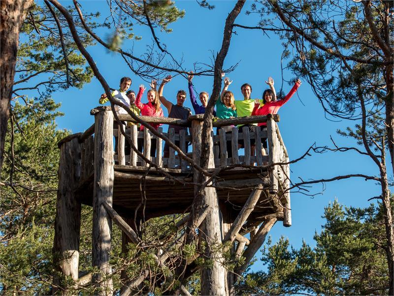 Piattaforma panoramica nel bosco di Laranza