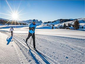 Cross country skiing Seiser Alm