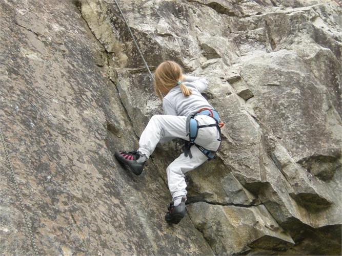Avventuroso corso d`arrampicata per tutta la famiglia