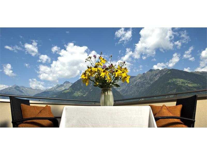 Terrasse der Ferienwohnung