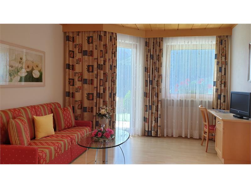Ferienwohnung Gartenloggia Schlafzimmer/Wohnbereich