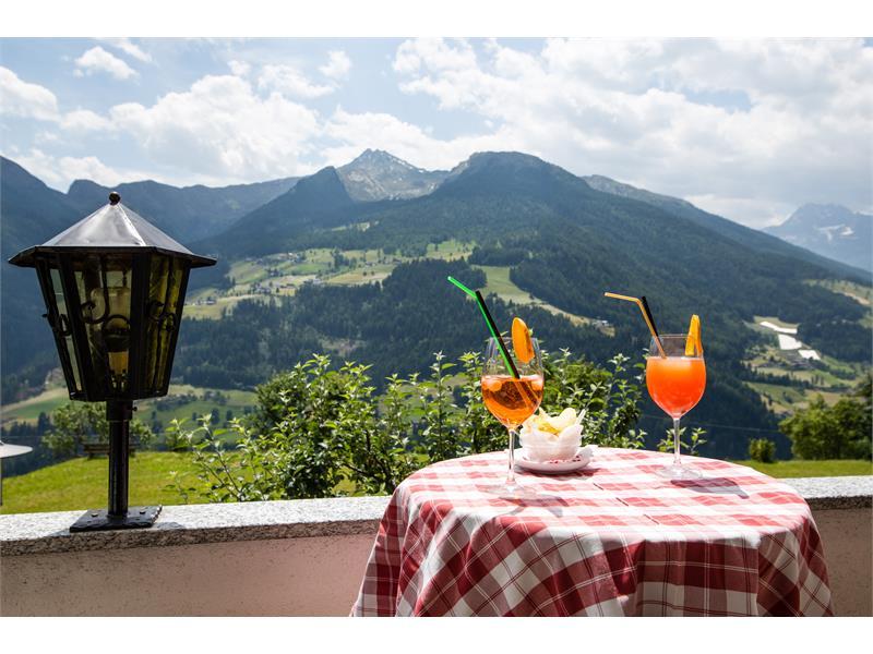 Hotel Alpenland terrasse
