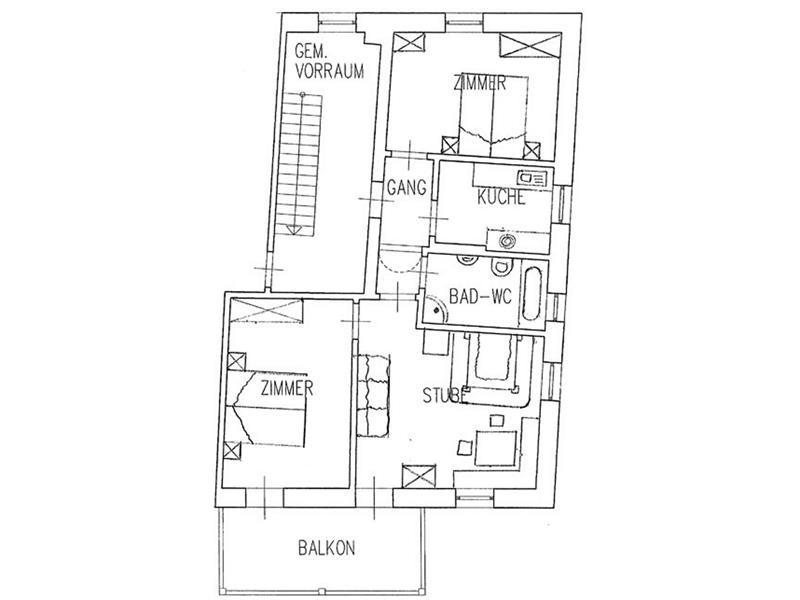 Großes Apartement
