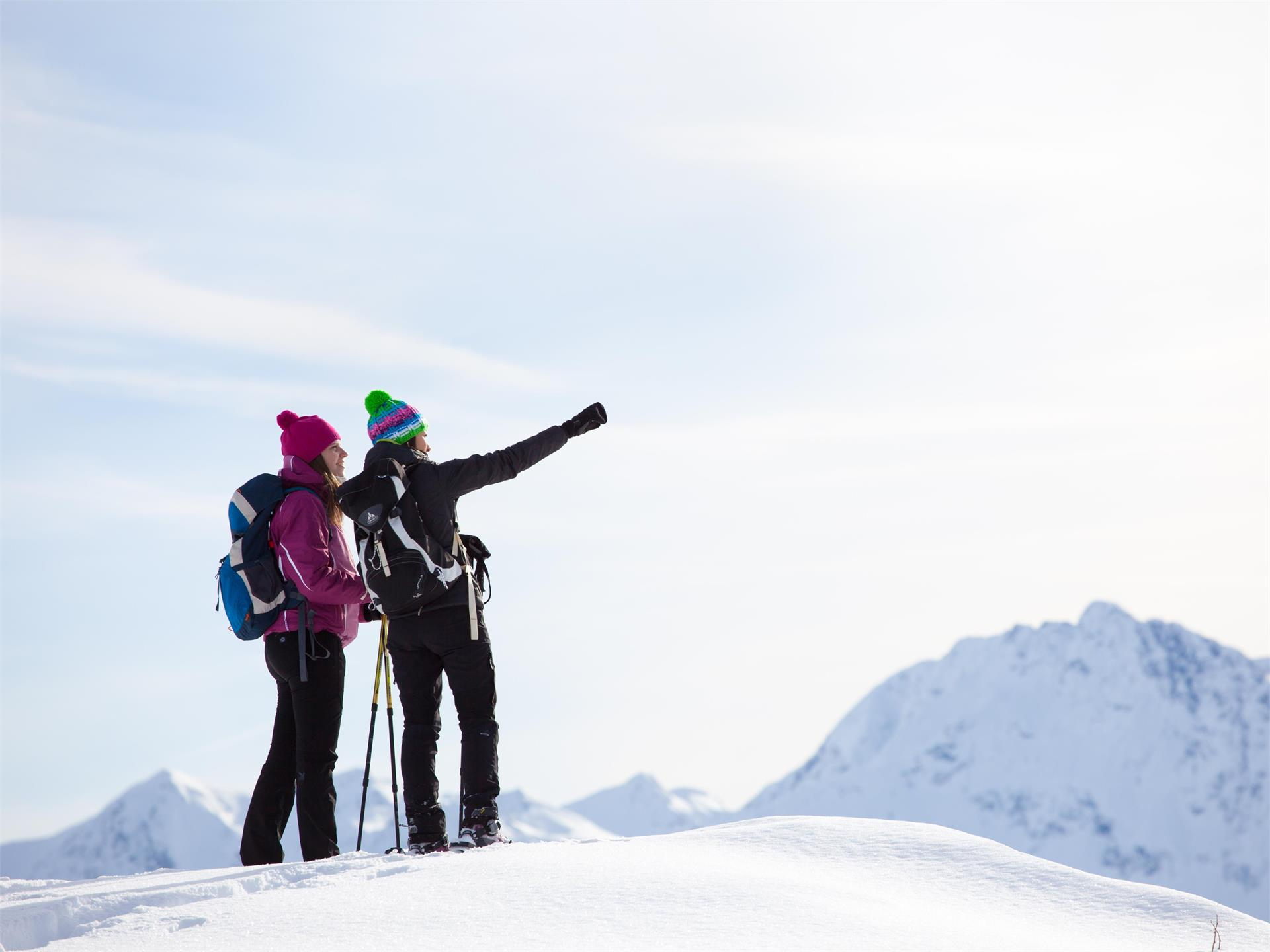 Snowshoe Hiking in the Valle Sailer/Sailer Tal & Valle Wanser/Wanser Tal Valleys