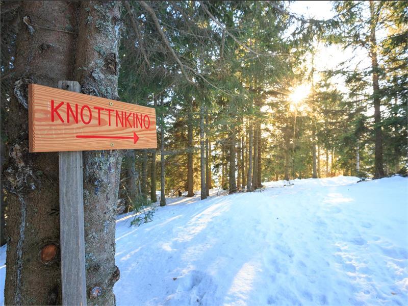 Il sentiero al Knottnkino è percorribile anche durante l'inverno