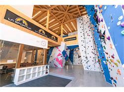 Indoor climbing wall in Corvara
