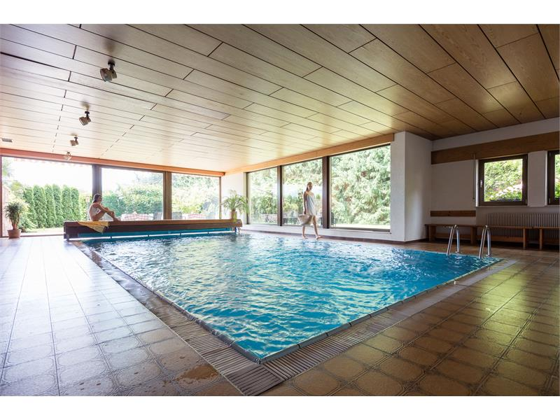 Indoor pool with countercurrent system