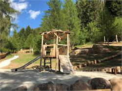 Children's playground in Truden in the natural park