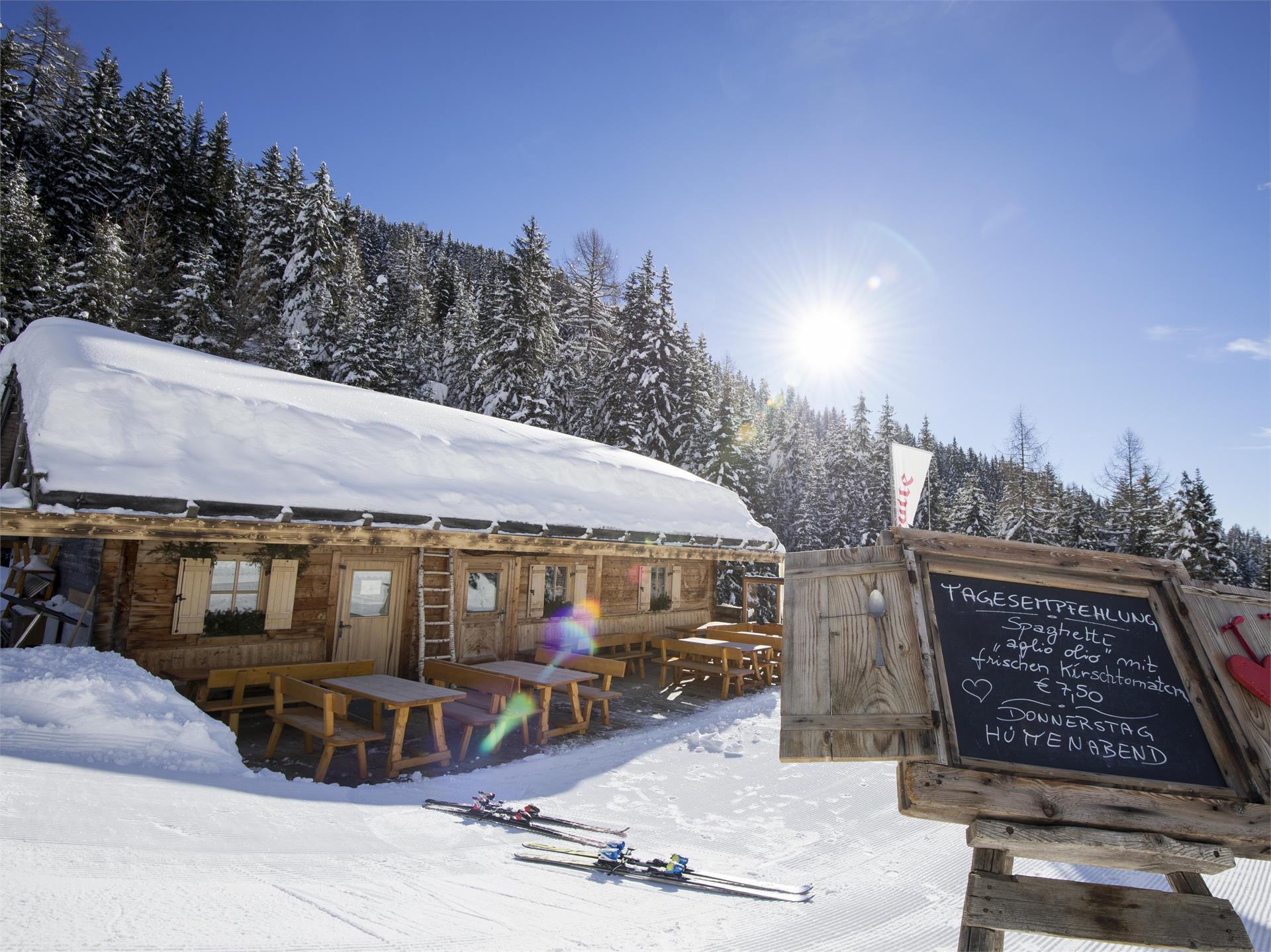 Winter hiking tour from Maranza/Meransen to the alpine lodge Bacherhütte