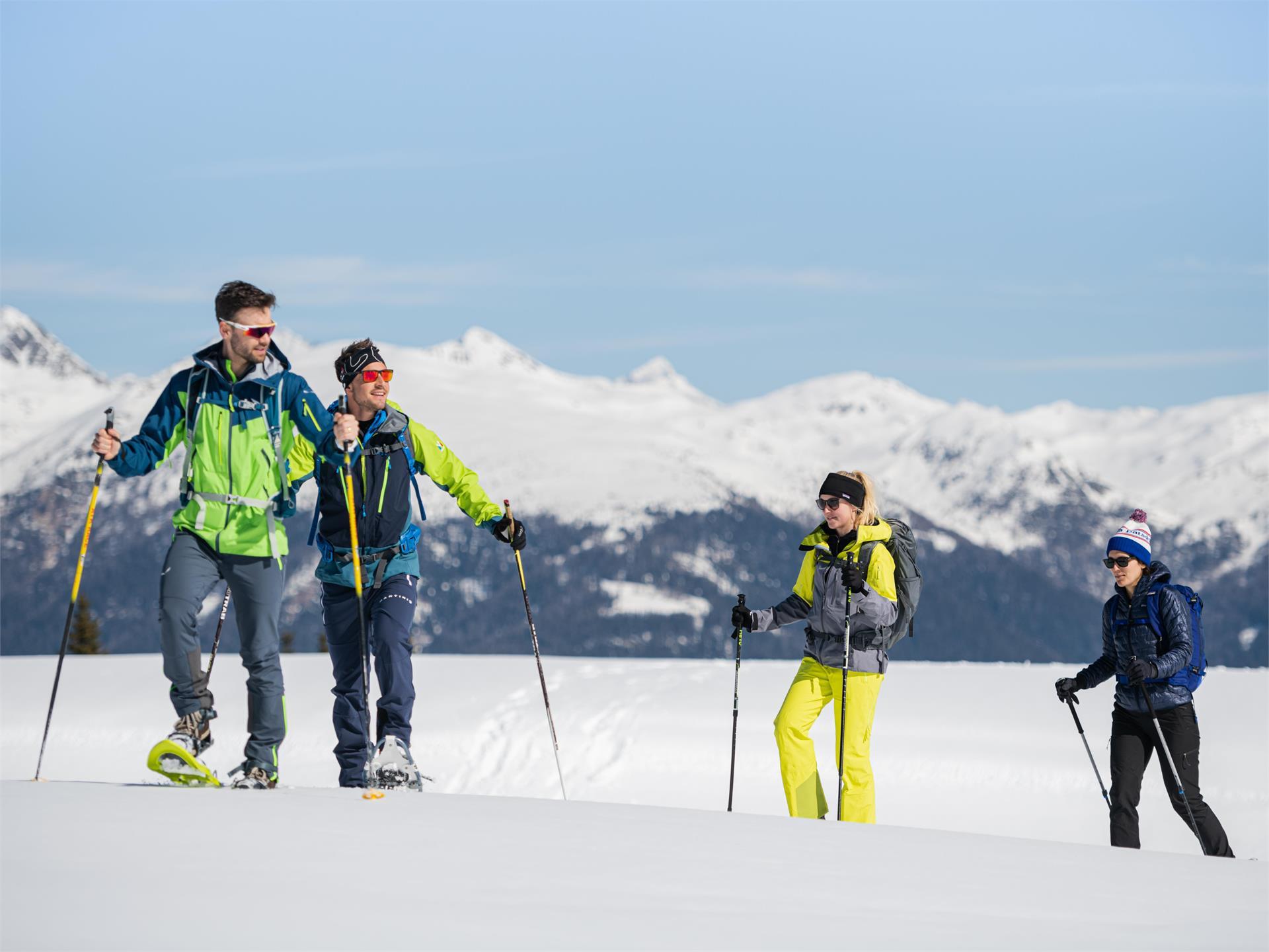 Mittelschwere Schneeschuhwanderung