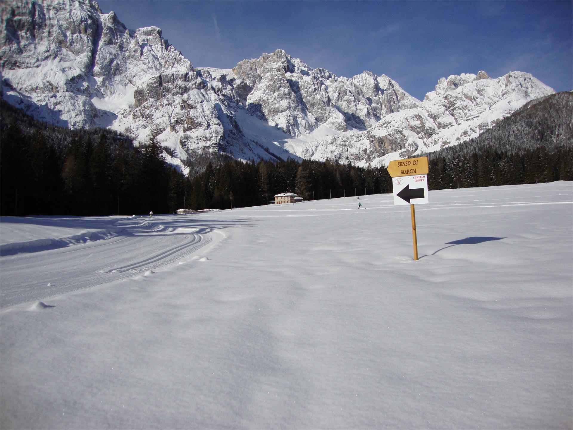 Pista Padola Valgrade panorama di Campotrondo