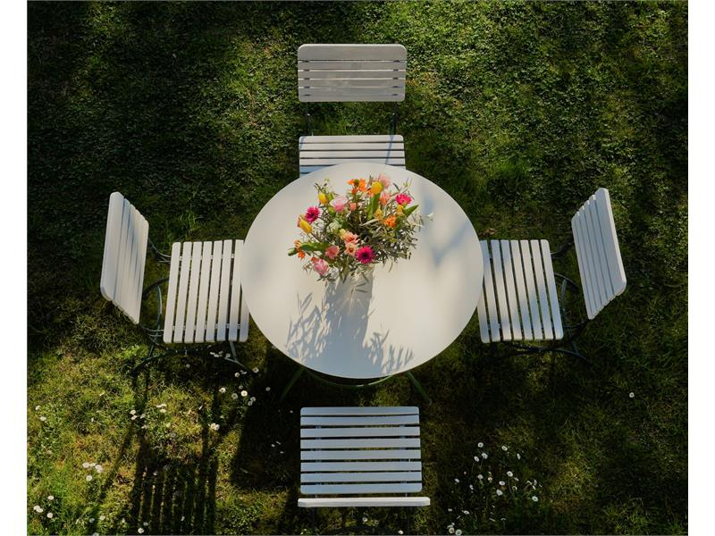please have a seat in the garden