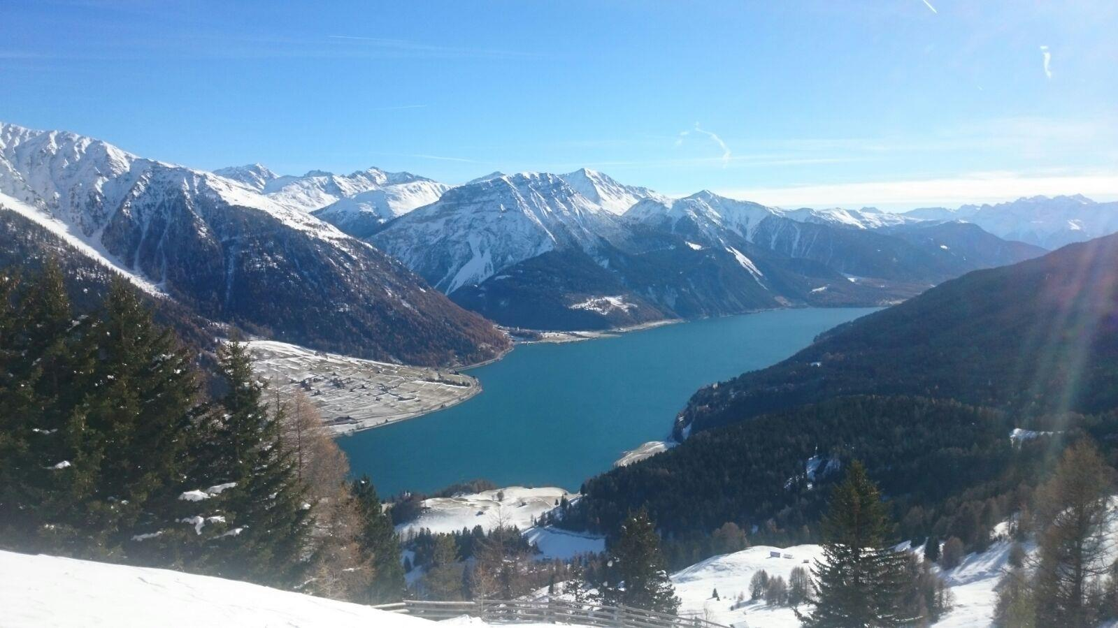 View over the Reschen lake