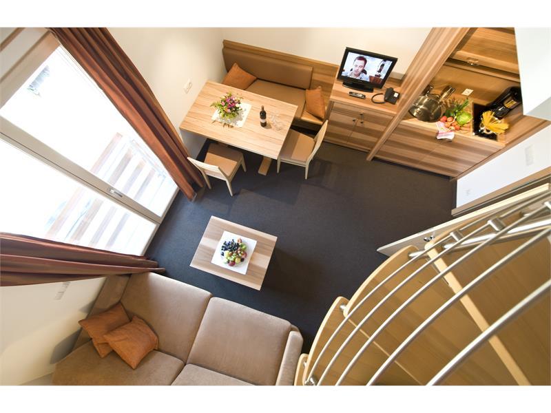 Wohnraum der Ferienwohnung über 2 Etagen