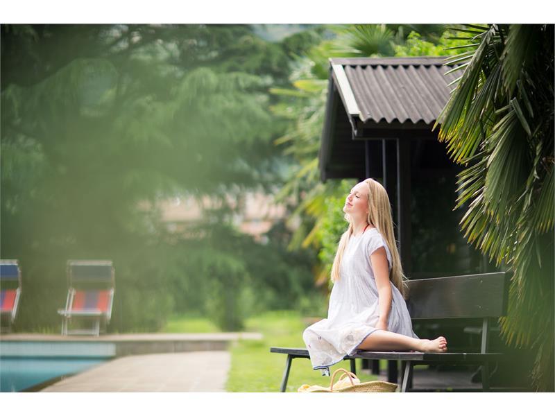 rilassarsi nel giardino mediterraneo