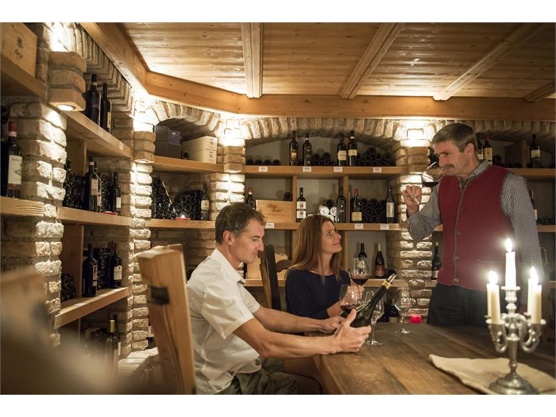 winecellar with wine degustation