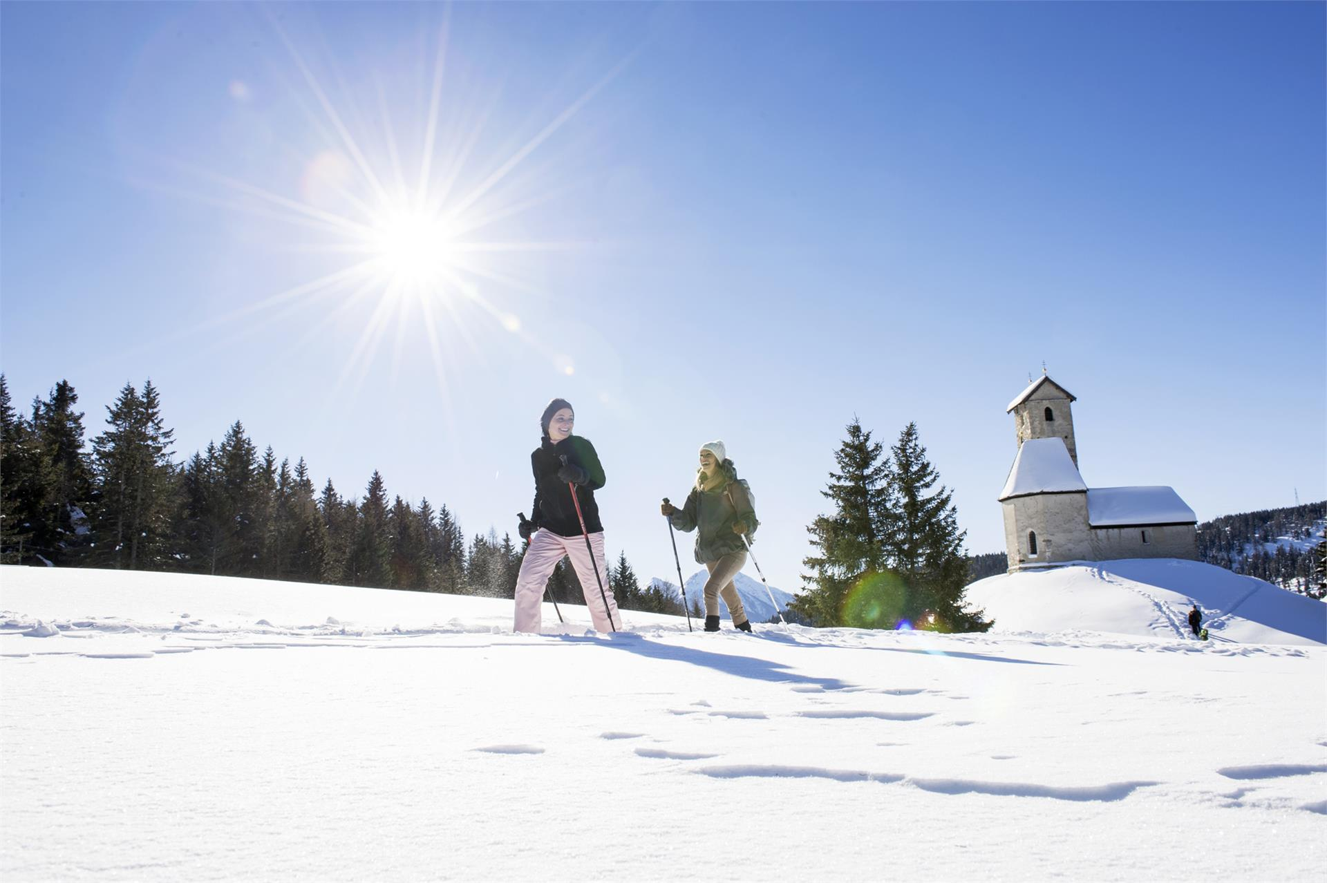 Snowshoeing Monte S.Vigilio/Vigiljoch