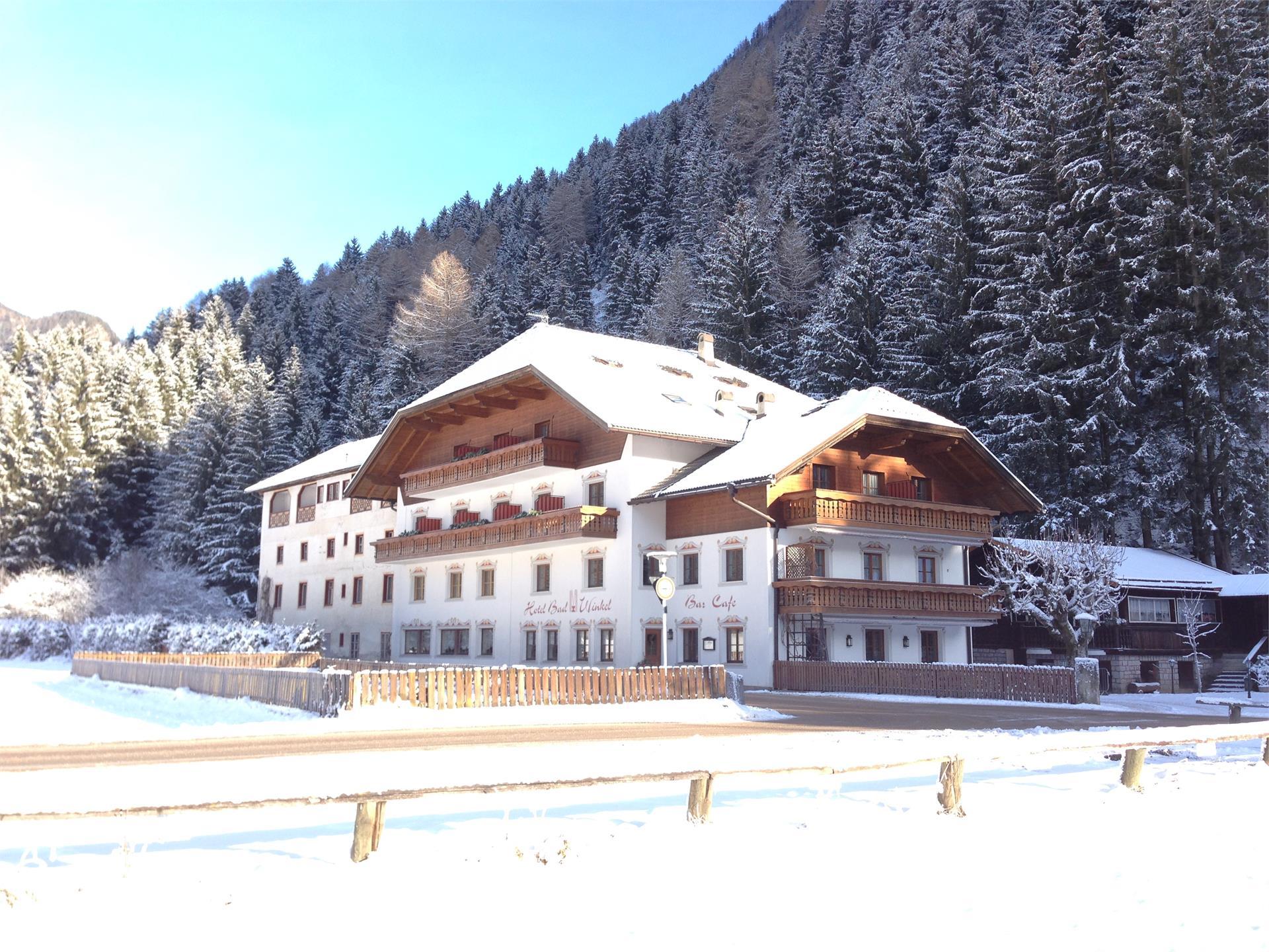 Vista albergo inverno