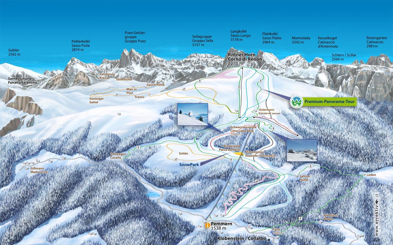 Rittnerhorn Karte