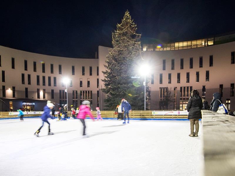 Ice skating at Town Square