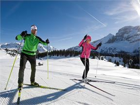Cross country skiing in Braies