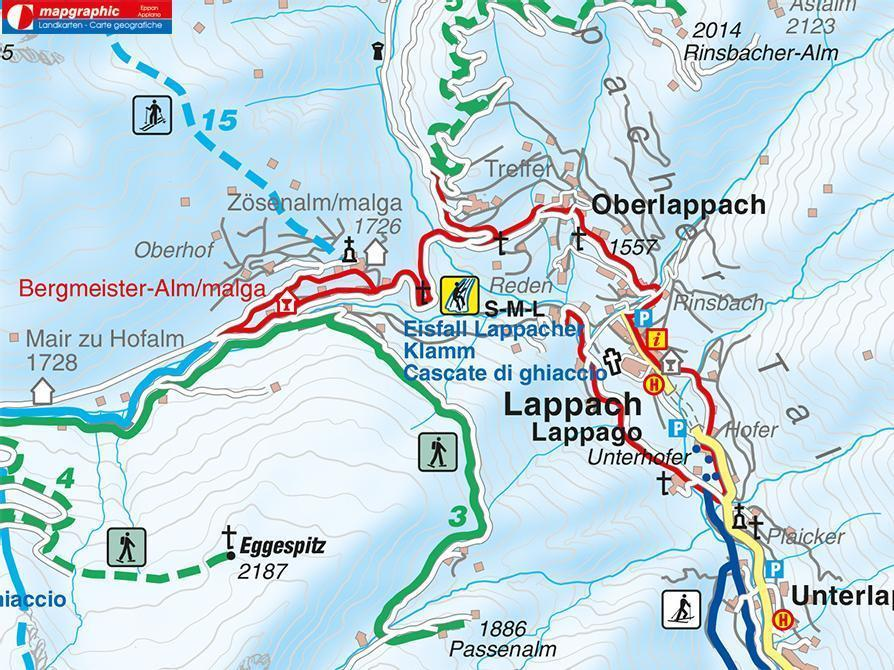 Winter walk - Lappago/Lappach Val di Cesa/Zösen