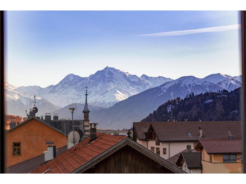 Viwe on he Ortler montains from the hotel room