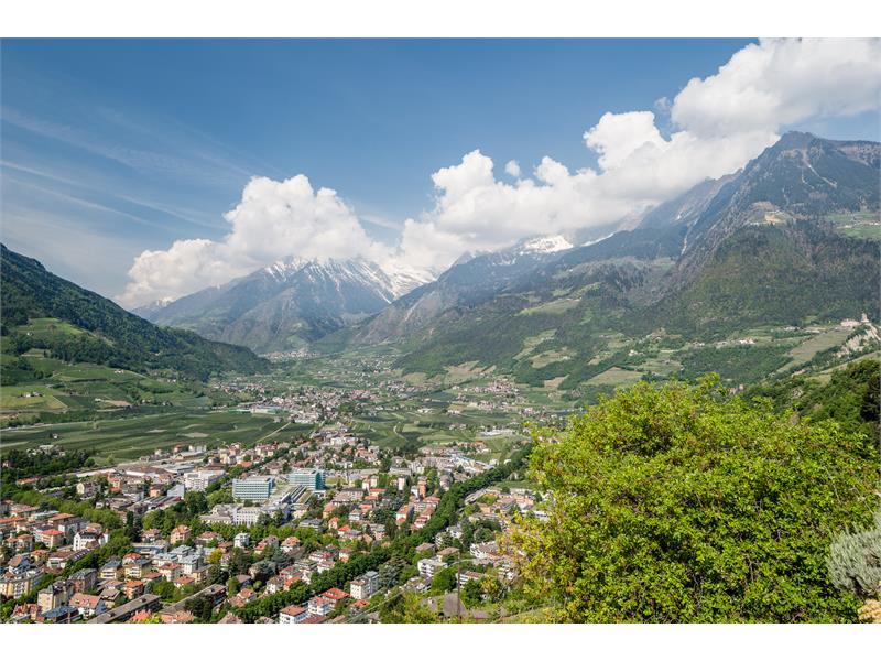 vieuw to the valley Vinschgau