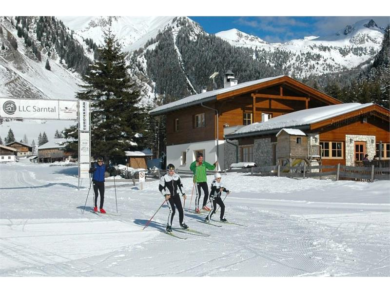Cross country skiing in Val di Pennes/Pens Valley, Val Sarentino/Sarntal Valley, South Tyrol