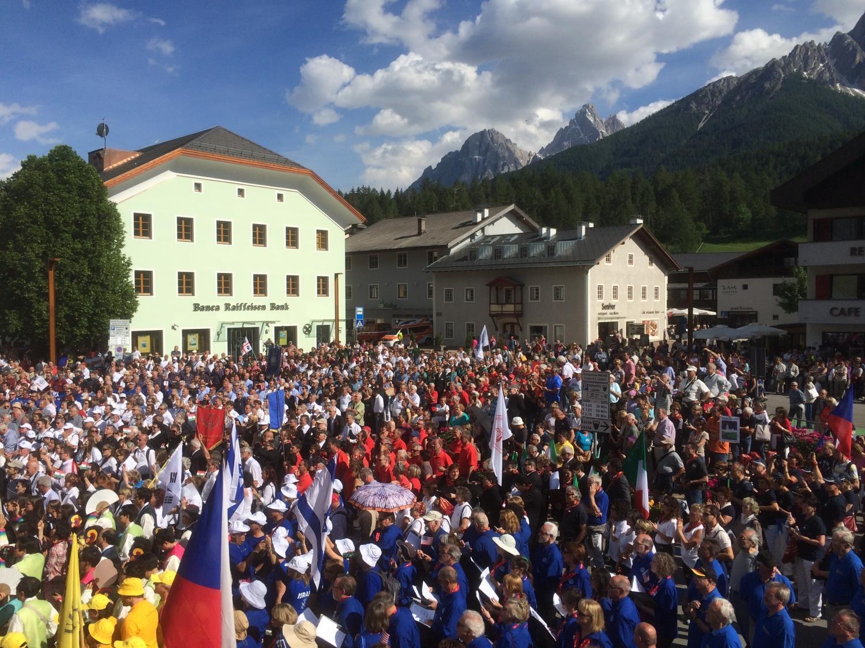 22. Alta Pusteria Int. Choir Festival: Großer Einmarsch der Chöre