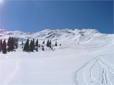 Fleckner summit ski tour