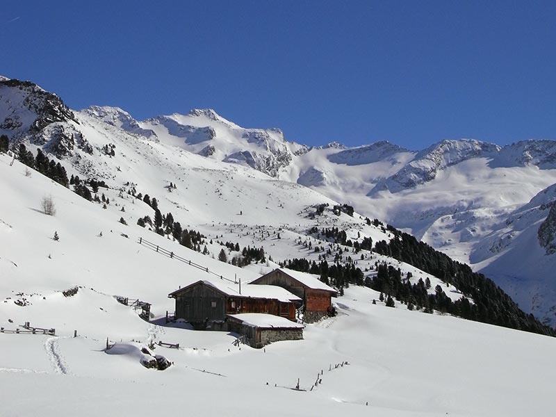 Snowshoe hike Malga Kofler/Kofleralm Alpine Farm