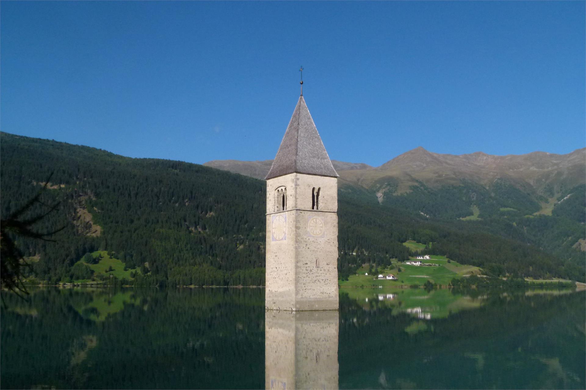 il campanile nel lago di Resia
