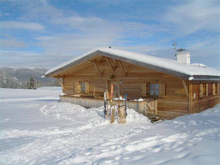 Chalet Seiser Alm in winter
