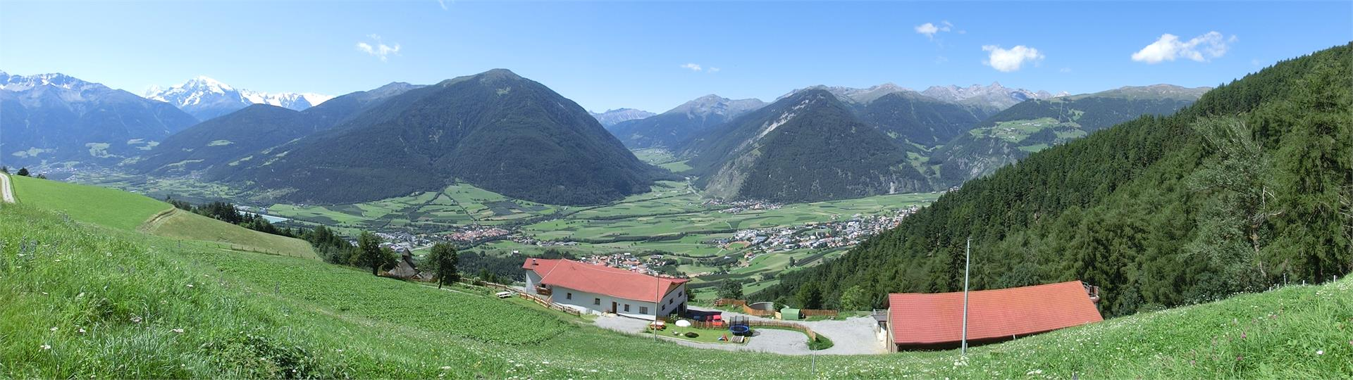 Unique pamoramic view from the Lechtlhof into the valley