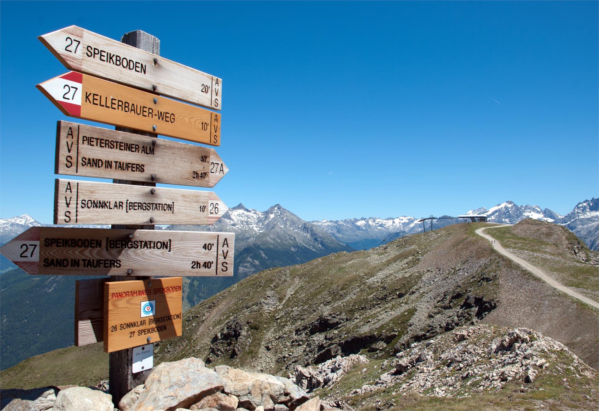 Zona escursionistica Speikboden