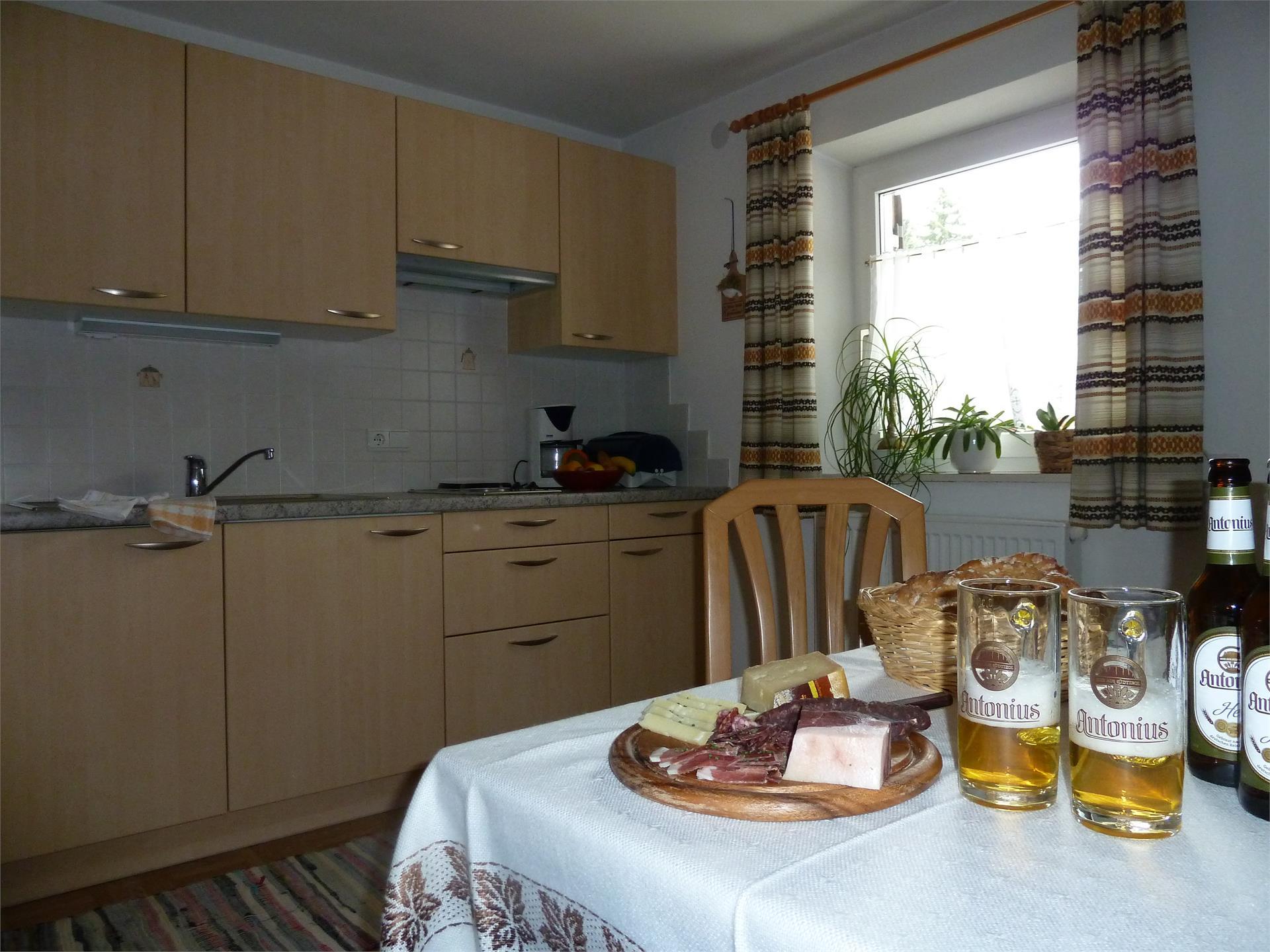 Küche Wohnung Ulla- Haus Albert Haselrieder, Völs am Schlern