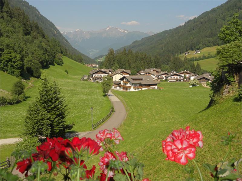 Vista sul paese e le montagne